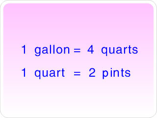 A Unit Of Capacity In The Customary System Measurement Equal To 4 Cups Or 2 Pints There Are Quarts 1 Gallon